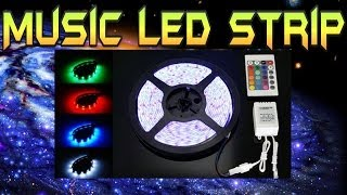 LED Strip w/ Music RF Controller Overview and Demonstration