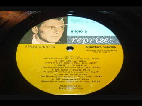 Frank Sinatra   How Little we Know  LP.