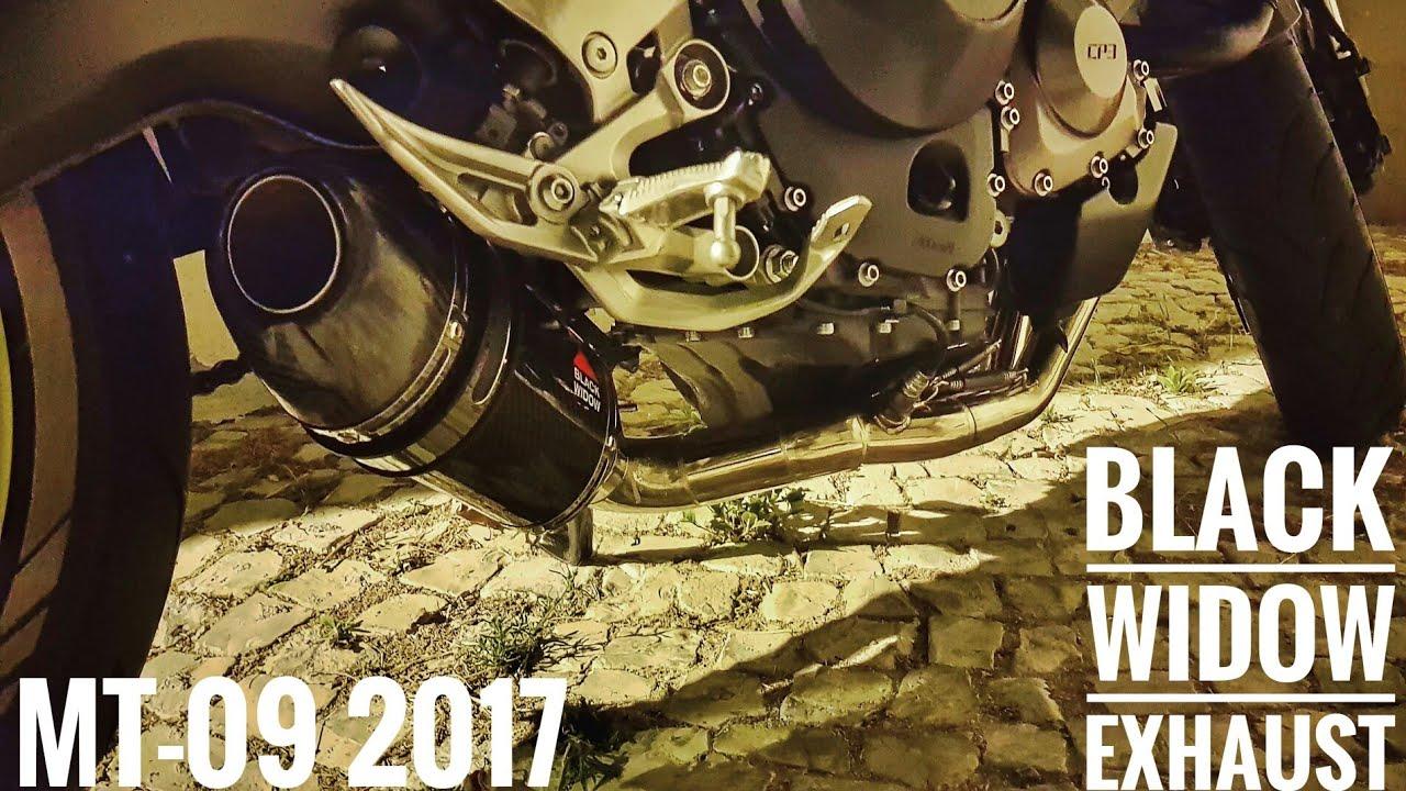 mt fz 09 2017 with black widow exhaust