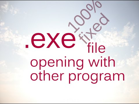 Open With Problem In Windows 7 With .exe File