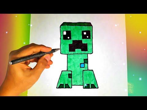 Как нарисовать КРИПЕРА из игры МАЙНКРАФТ? Лёгкие рисунки для срисовки