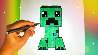 Как нарисовать КРИПЕРА из игры МАЙНКРАФТ? Лёгкие рисунки для срисовки / Видео