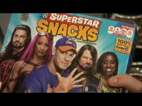 WWE SUPERSTAR SNACKS by PLB SPORTS REVIEW!