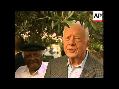 Carter, Tutu Visits Site Where Palestinian Families Were Evicted