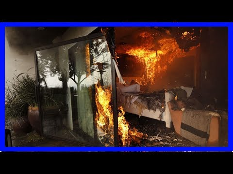 TODAY NEWS - Within a week of the fire, burning the Senior House bel-air as the fire roars through