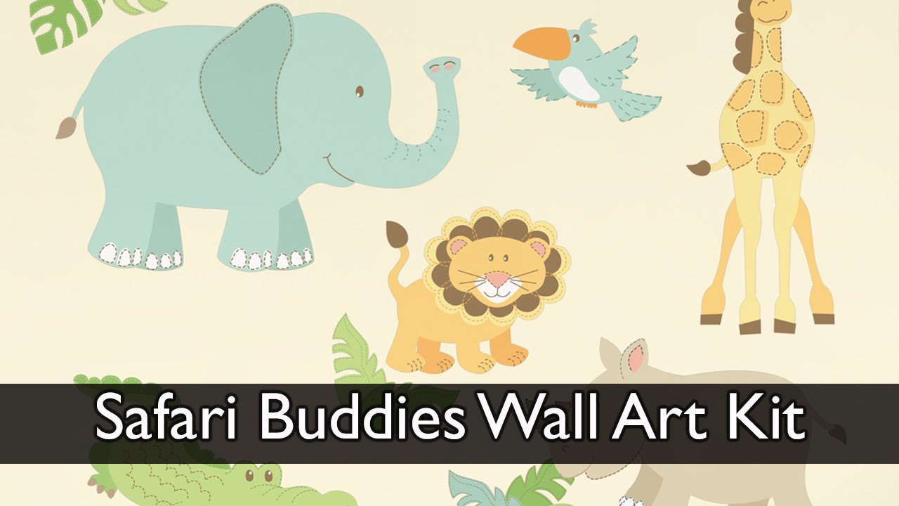 Safari Buddies Wall Art Kit - YouTube