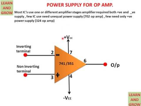 POWER SUPPLY FOR OP AMP(हिन्दी )!LEARN AND GROW