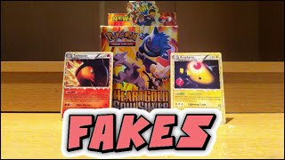 FAKE Pokemon Cards! Looking at a FAKE HeartGold & Soulsilver Card Box!