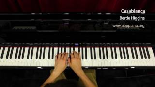 ? Casablanca - Bertie Higgins (piano) instrumental / play by ear