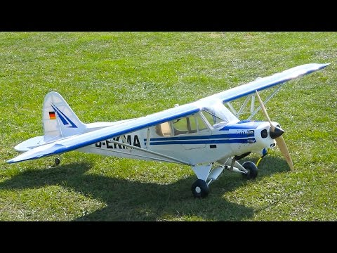 PIPER PA-18 SUPER CUB GIANT RC SCALE PLANE / Modellflugtage 2016 Neustadt a.d.Aisch