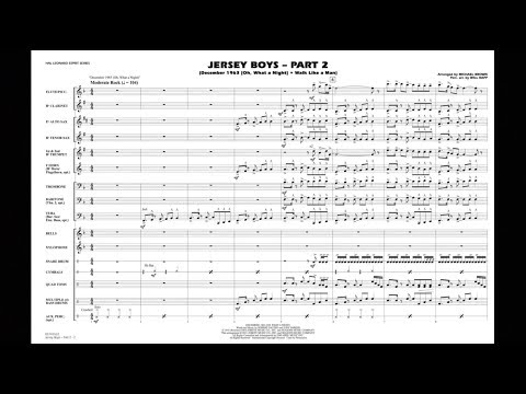 Jersey Boys - Part 2 arranged by Michael Brown