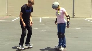 LEARNING TO SKATEBOARD!