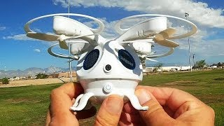 FLYPRO Squid Sepia Detective Artifact FPV Selfie Drone Flight Test Review