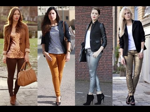 How to dress up skinny jeans for work