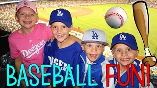 FIRST BASEBALL GAME! Family Fun Pack VLOG!
