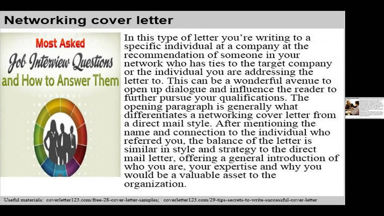 Top 7 investor relations cover letter samples - YouTube