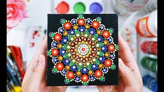 Mandala Dot Painting Tutorial   Tropical Flower