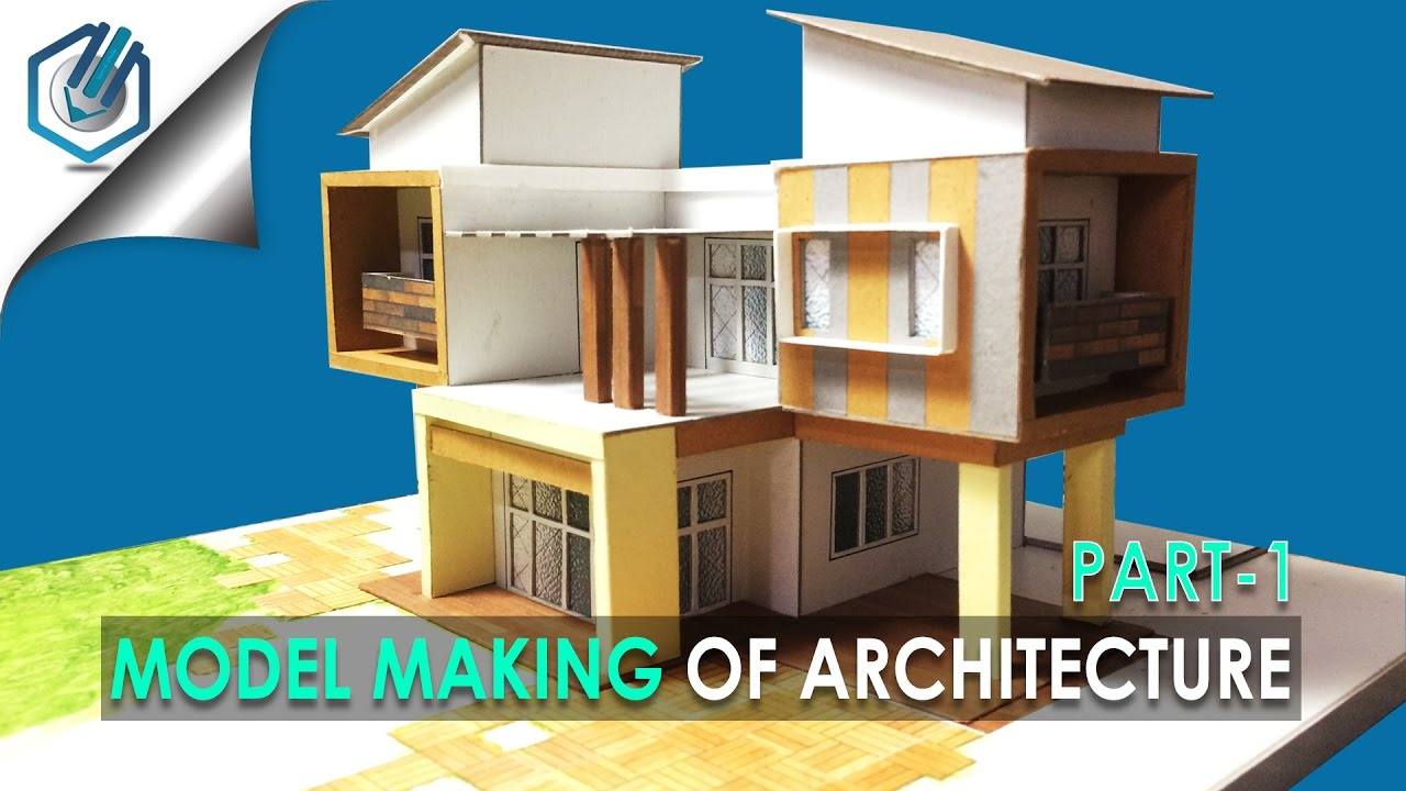 Model making of modern architectural building 10 part 1