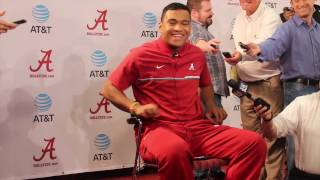Alabama QB Tua Tagovailoa meets media for first time