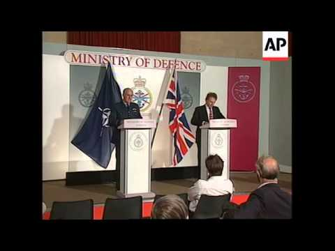 UK: KOSOVO CRISIS: MINISTRY OF DEFENCE GIVE PRESS BRIEFING