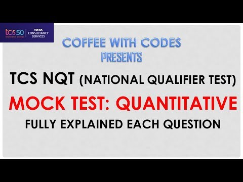 TCS NQT Mock Test Quantitative Fully Solved with Detailed Explanation | Coffee With Codes Solved