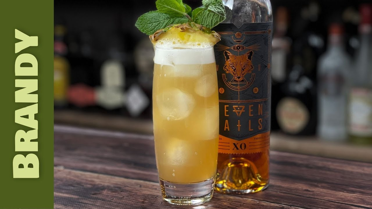 """Brandy Cocktail Recipes - """"Bee-Randy"""" Honey & Pineapple Cocktail"""