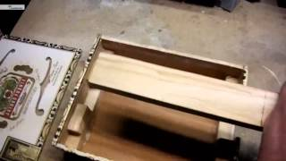 Three String Cigar Box Guitar Assembly
