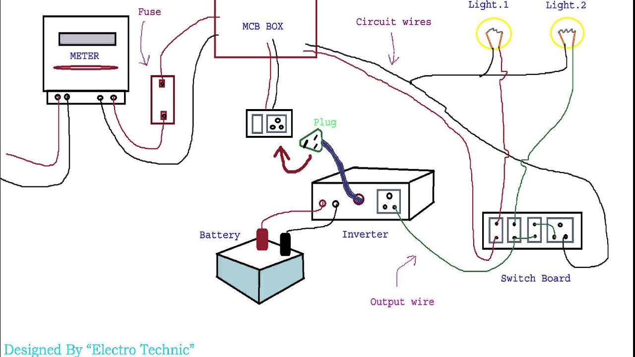 inverter ki wiring kaise karte hain  [ 1280 x 720 Pixel ]