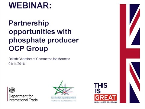 Webinar about Partnership opportunities with phosphate producer OCP Group