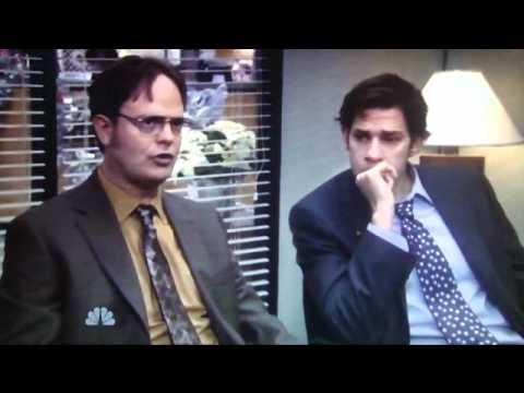 the office classy christmas jim vs dwight snowball fight - The Office Classy Christmas