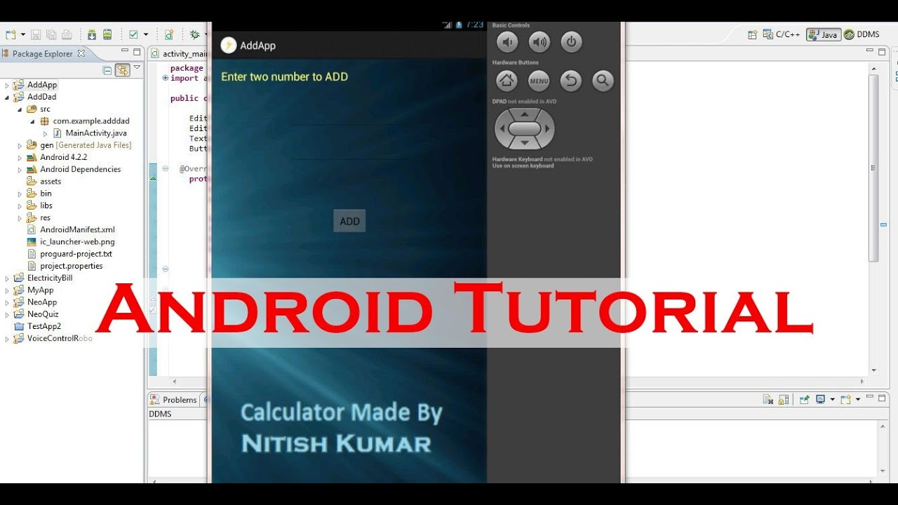 Building your first android app tutorial part 12 add two number building your first android app tutorial part 12 add two number layout setup baditri Image collections