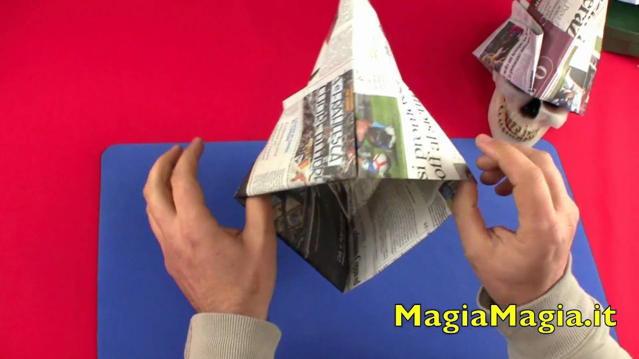 Cappello da muratore tutorial paper hat 折纸 - YouTube