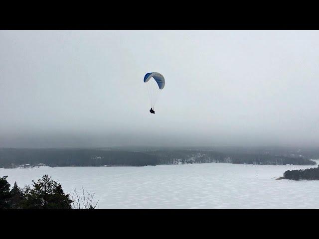 Paragliding Klövberget Sweden 20160124