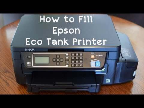 How to Fill Epson Eco Tank Printer
