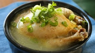 Ginseng Chicken Soup (samgyetang:삼계탕) English & Korean Captions