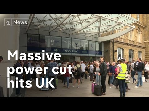 Massive power cut across UK affects homes, businesses and transport networks