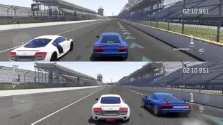 Forza Motorsport 6 | AUDI R8 V10 Plus 2016 610 HP stock vs AUDI R8 V10 Plus 2013 542 HP stock | Drag