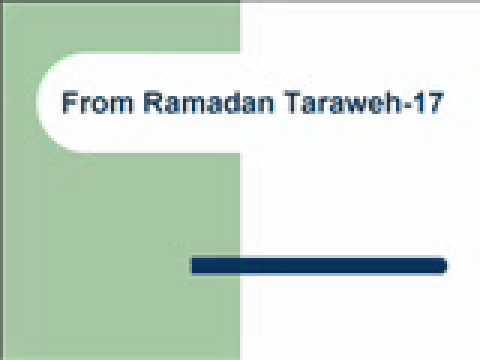 From Ramadan Taraweh-17تراويح رمضان