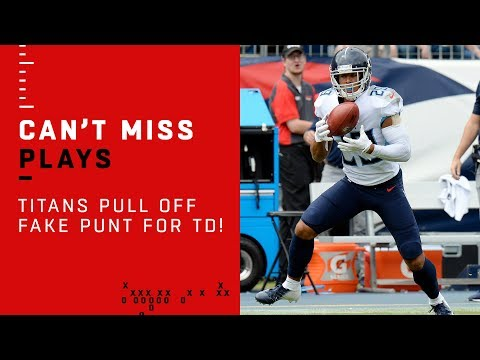 Titans Pull Off Fake Punt Pass for TD! 🚨TRICK PLAY ALERT🚨