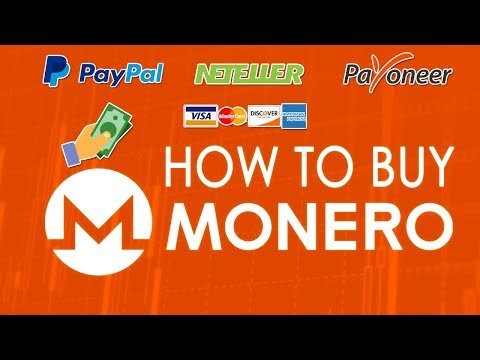 How To BUY MONERO ??  BEST METHOD 2017 !! | Paypal, Neteller, Bank Transfer, Etc