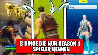 🏅 8 DINGE die nur WAHRE SEASON 1 Spieler kennen | Fortnite Top 10 Ranking Deutsch German