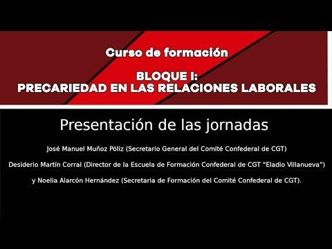 (2019-10-25) Jornadas CGT Precariedad en las relaciones laborales
