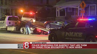 Police search for car chase suspect