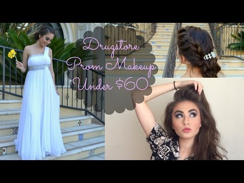Drugstore Prom Makeup and Hair Tutorial...