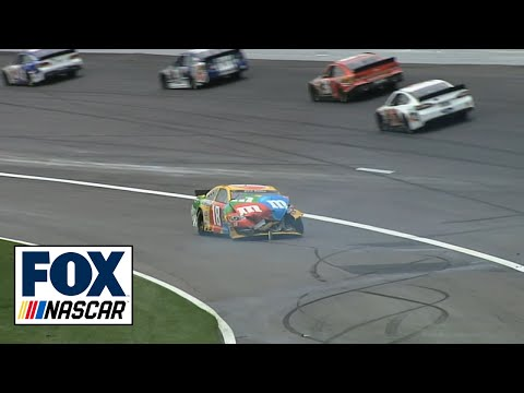 Kyle Busch and Joey Logano Crash NASCAR at Kansas 2013
