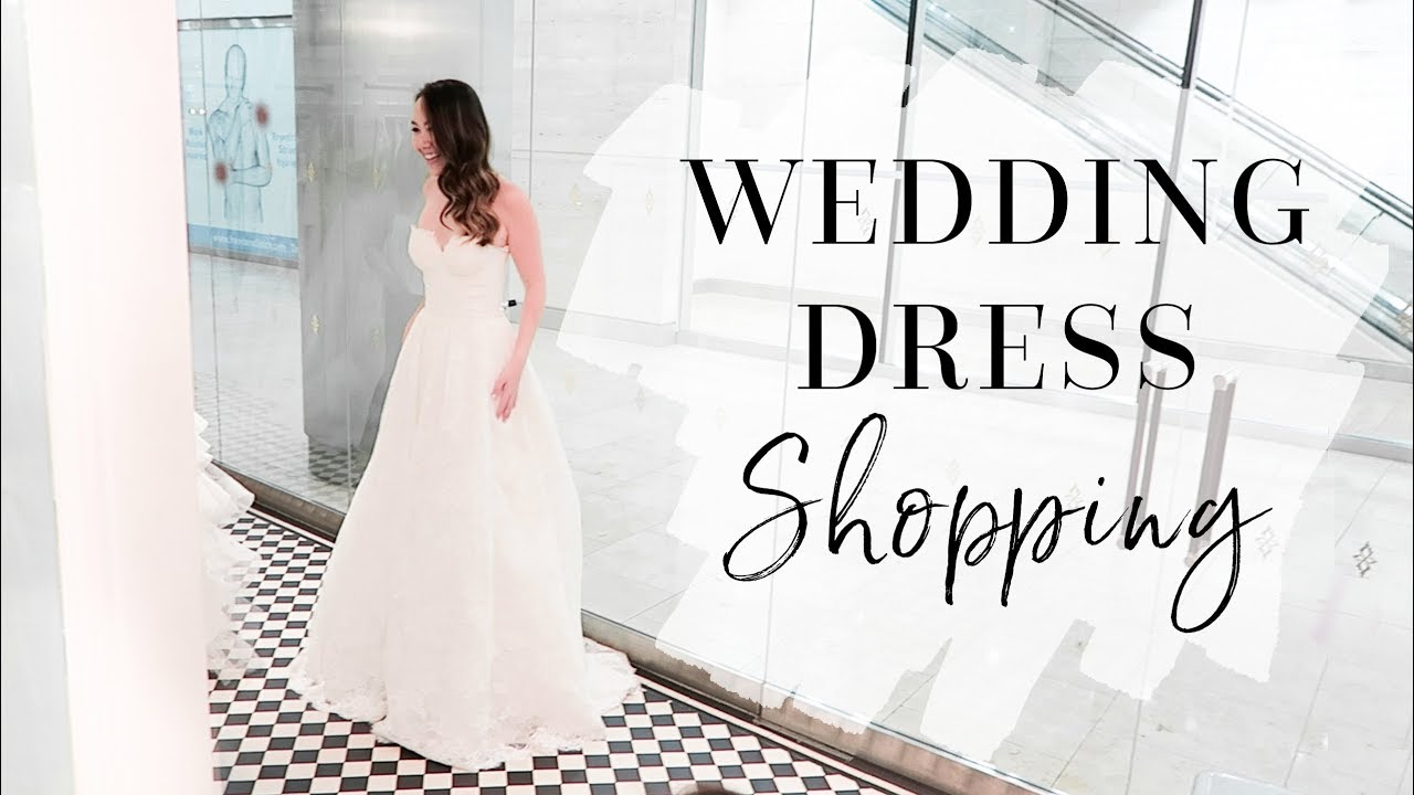 COME WEDDING DRESS SHOPPING WITH ME! | #BrideToBe Vlog - YouTube