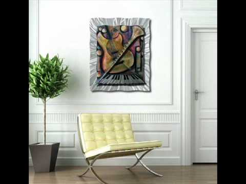 Inspirational Musical Instruments Metal Wall Art Decor Sculpture.wmv