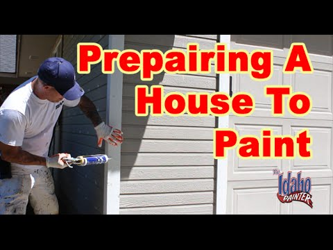 Preparing To Paint a House.  House Painting Instructions & Hacks.
