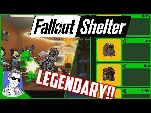 Fallout Shelter Vault 628 Legendary Outfits Galore EP29