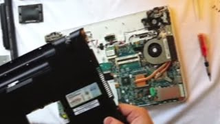 ///HOW TO - Sony VAIO E Series Disassembly and Fan Cleaning